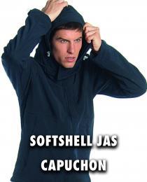 Softshell jas capuchon