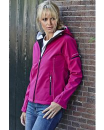 Ladies Hooded Fashion Softshell Jacket