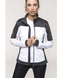Kariban tweekleurige softshell jas Dames